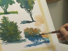 Watercolor Lessons - Tree Techniques 4, Frank M. Costantino - YouTube