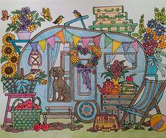 ColorIt Blissful Scenes Colorist: Tammy Myers #adultcoloring #coloringforadults #adultcoloringpages #scenes