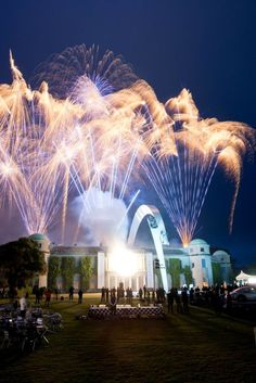 Mercedes Arch Goodwood Central Feature 2014 http://www.RacingNewsNetwork.com/2014/07/02/goodwood-festival-of-speed-mercedes-arch/ #fireworks #firework #car #cars #mercedes #architecture #goodwood