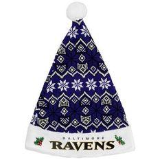 1e6255966 Baltimore Ravens Knit Santa Hat Hats