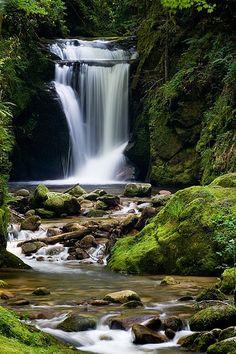 Waterfall of Geroldsau, Black Forest |nature| |amazingnature|  #nature #amazingnature  https://biopop.com/