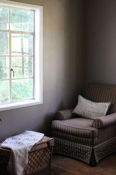 Home interiors blog - Charleston Gray walls from F - really like this