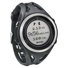 Sportline Sync Gps Men Black Watch Wirelessly transmits GPS data from your smart phone using Bluetooth Smart sync. Available at www.mymoti.com