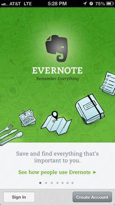 Evernote (iPhone) walkthroughs
