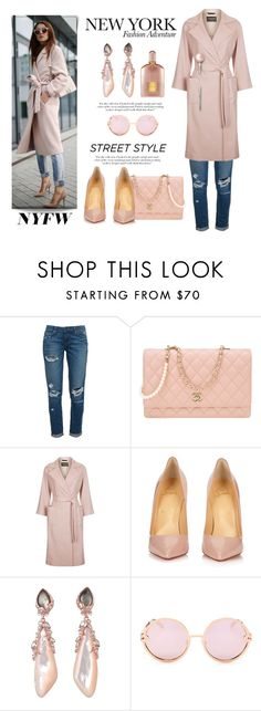 """New York Fashion Adventure"" by conch-lady ❤ liked on Polyvore featuring Paige Denim, Chanel, Harrods, Victoria Beckham, Christian Louboutin, De Buman, Quay, Tom Ford, StreetStyle and NYFW"