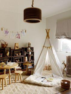 Idée DIY tipi pour la chambre enfant cool et mignon