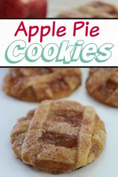 Check out these Apple Pie Cookies recipe that uses pie crust and just the right amount of sugar and apples to make this dessert the perfect snack for on the go or school lunches.