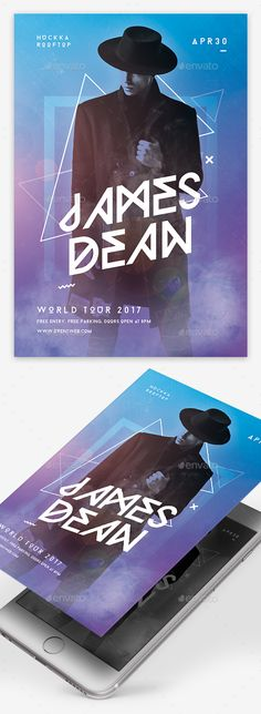 Futuristic Electronic Music Flyer\/Poster Templates u2014 Photoshop PSD - music flyer