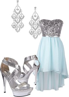 """""""High low dance dress"""" by maddymae69 on Polyvore"""