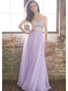Sexy and Stylish A-line Sweetheart Neckline Sweep Train Rhinestones Prom Dress