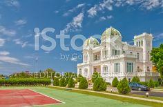 Cienfuegos tennis club building under bright sun royalty-free stock photo