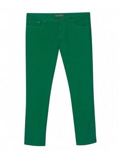 Five Pocket Green Colored Jeans $42