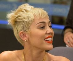 Miley Cyrus at the 2013 debut of Seacrest Studios at CHOC Children's Hospital Really Short Hair, Ryan Seacrest, Miley Cyrus, Studios, Short Hair Styles, Children, Women, Very Short Hair, Bob Styles