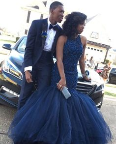Mermaid Prom Dress,Navy Blue Evening Dress,Handmade Beaded Formal Party Dress on Luulla African Prom Dresses, Royal Blue Prom Dresses, Blue Evening Dresses, Black Prom Dresses, Mermaid Prom Dresses, African Dress, Prom Pictures Couples, Prom Couples, Couple Pictures