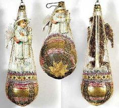 Hand-crafted Victorian Christmas ornaments are created from antique prints, vintage ornaments and vintage Christmas decorations. Victorian Christmas Ornaments, Shabby Chic Christmas, Primitive Christmas, Vintage Ornaments, Rustic Christmas, Christmas Ideas, Primitive Crafts, Christmas Christmas, Glass Ornaments