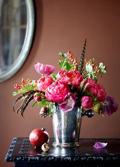 peonies, poppies and feathers