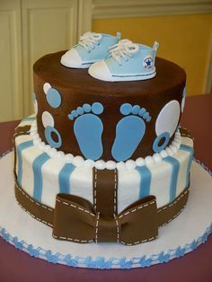 Cake for my best friends baby shower. Colors and some...