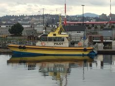 Boat used to transport marine pilots to ships. Ogden Point, Victoria BC