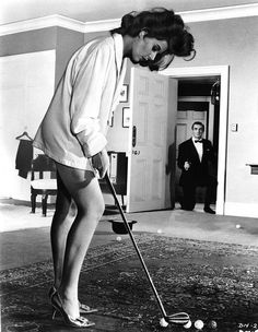 Eunice Gayson. Dr. No (1962). Also pictured Sean Connery