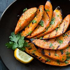 Grilled Sweet Potatoes >> One medium sweet potato provides one's body with the recommended daily allowance of beta-carotene (aka vitamin A).