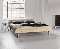 The Twist Futon Bed With Simple Modern Lines Is Available In A Natural Or White