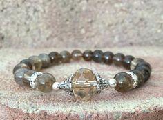 Smoky Quartz Yoga Bracelet Healing Bracelet by BeautifulShades