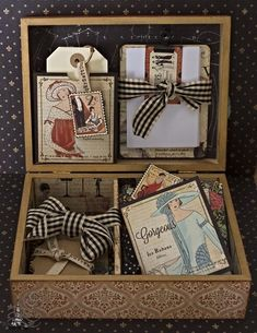 Tati Scrap made this beautiful Couture altered box filled with handmade tags and cards. Amazing #graphic45