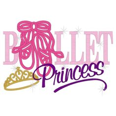 Ballet (28) Ballet Princess Applique 5x7   - Stitch on Time