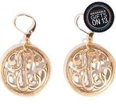 Trendy monogram earrings with a twist by John Wind #dallasmarket #wearablegifts Red Haute Temps