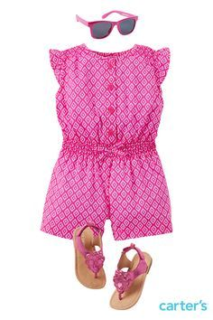 Carter's Pink Romper NB-4T Retail: $29 Wee Blessing:$15