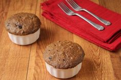 Chocolate Muffins in a Minute (Low Carb and Gluten Free) from Living Low Carb One Day at a Time