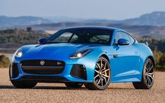 Jaguar F-type SVR in Ultra Blue.. i'll take mine with the alcantara and blue piping interior please with carbon fibre of course