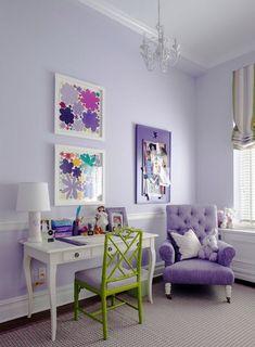 Pantone 2018 Ultra Violete. Habitaciones infantiles