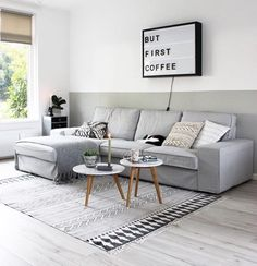 With Spring almost here, we want to inspire you for a new modern interior design for your living room. Living Room Grey, Living Room Modern, Home Living Room, Living Room Decor, Interior Design Living Room, Living Room Designs, Living Comedor, Living Room Inspiration, Decoration