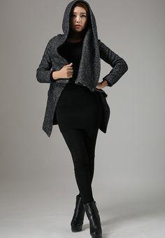 Womens blazer wool blazer Short Biker Jacket modern
