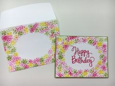 Stampin' Up!, Confetti embossing folder, Stylized Birthday stamp, sponging technique, embossed envelope www.juststampin.com