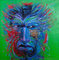 Water Spirit by Darcy Nicholas kp Modern Indian Art, Australian Art, Art Auction, New Zealand, Spirit, Water, Artist, Model, Painting