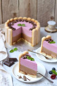 Šarlota sa čokoladom i šumskim voćem - Mystic Cakes Sweet Desserts, No Bake Desserts, Sweet Recipes, Baking Recipes, Cake Recipes, Dessert Recipes, Torta Recipe, Torte Recepti, Torte Cake