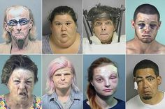 The Sunshine State's hall of shame: Police mugshots capture rogue's gallery of Florida's mad, bad and ugly