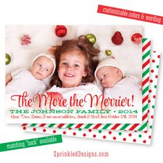 holiday card birth announcement - Google Search