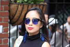 Anyone who can coordinate their earrings and their sunglasses is playing in the big leagues…