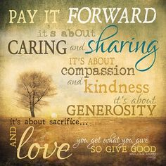 Pay It Forward Definition | Meaning of Pay It Forward | If My Walls Could Talk...