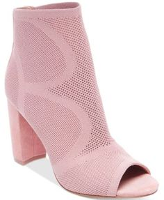 STEVEN By Steve Madden Women's Acko Peep Toe Ankle Booties