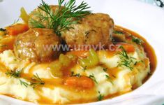 Hlavní jídla – U Miládky v kuchyni Mashed Potatoes, Menu, Ethnic Recipes, Food, Whipped Potatoes, Menu Board Design, Smash Potatoes, Essen, Meals