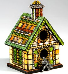 mosaic birdhouses - Google Search