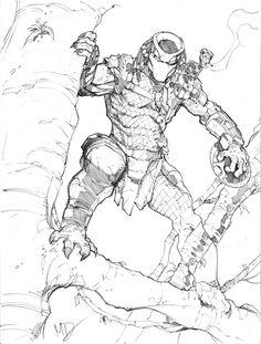 Predator by Max-Dunbar on DeviantArt Aliens, Alien Races, Alien Vs Predator, Epic Art, Guy Drawing, Comic Artist, Coloring Books, Coloring Bible, Colouring