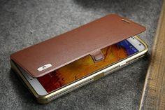 Cover Galaxy Note 3 Fine Day Surplus Wind Metal Bumper Leather Flip