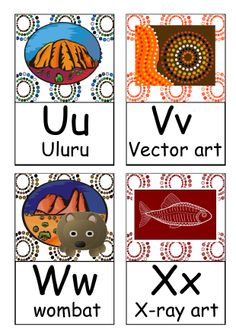Indigenous Australia A to Z flash cards. Teaching resources.
