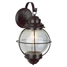 Trans Globe Lighting 1 - Light Outdoor Black Onion Wall Lantern