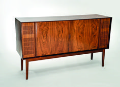 Bang & Olufsen early 1960's palisander rosewood stereo cabinet. Length 147 cm